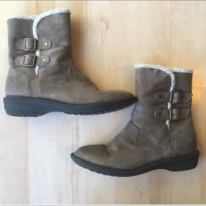 JustFab grey ankle boots